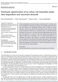 Stochastic optimization of an urban rail timetable under time-dependent and uncertain demand