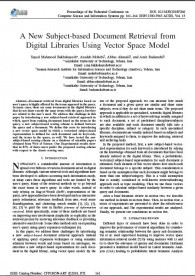 A New Subject-Based Document Retrieval from Digital Libraries Using Vector Space Model