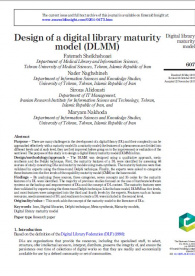 Design of a digital library maturity model (DLMM)