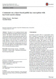 Comments on a chaos-based public key encryption with keyword search scheme