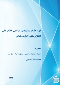 "scientific and technical information network in Iran ""Medicine , Agriculture, Natural sciences & mathematics, engineering & technology"" (a proposal)"